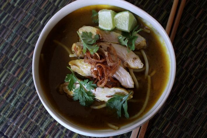 Sous Vide Chicken Khao Soi