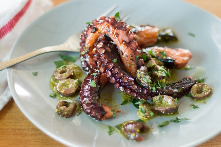 Sous Vide Grilled Octopus
