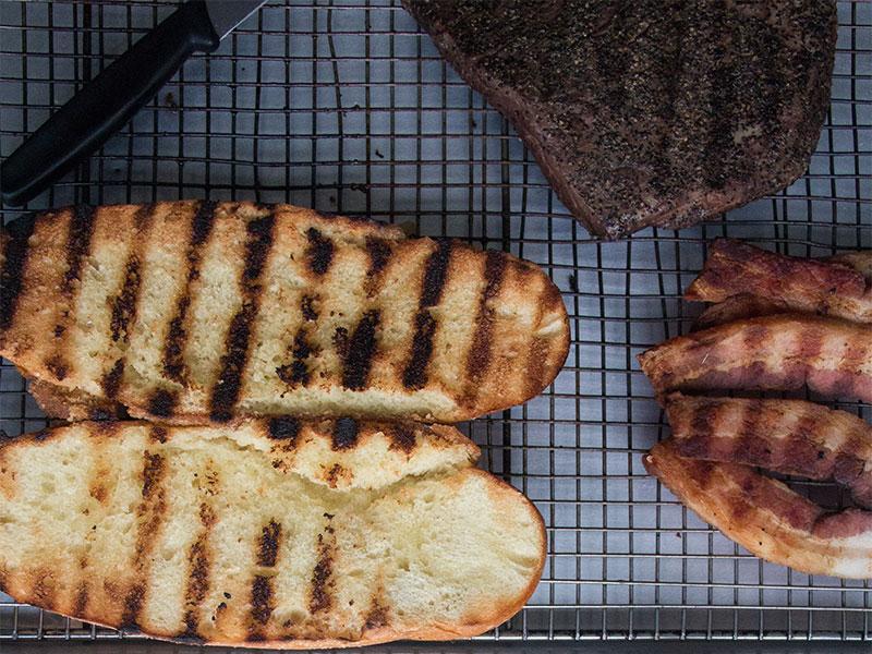 Sous Vide Flank Steak Sandwich