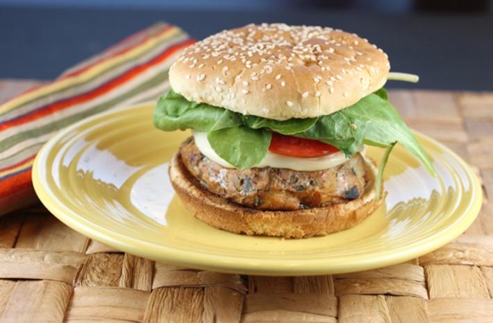 Sous Vide Mega Mediterranean Turkey Burgers