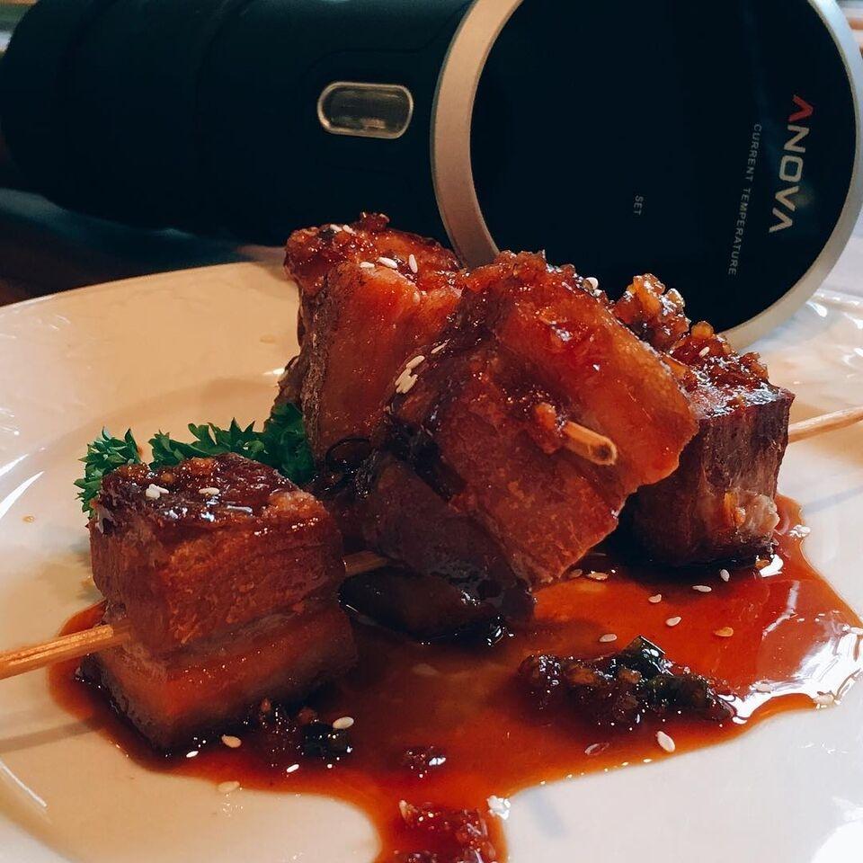 Sous Vide Sticky Deep Fried Pork Belly