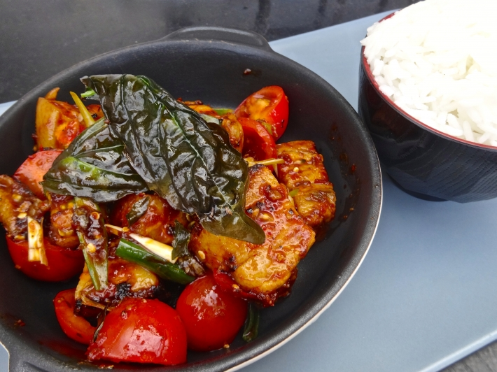 Anova Sous Vide Recipes >> Sous Vide Thai Pork with Chilli Jam and Crispy Basil